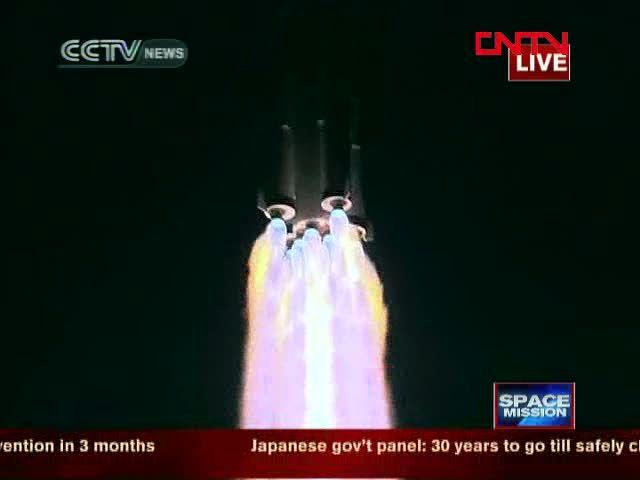 /via Chris Bergin #china #Shenzhou #8 #CZ2F #rocket #liftoff #plume