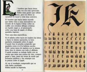 libro, El hombre que hace letras