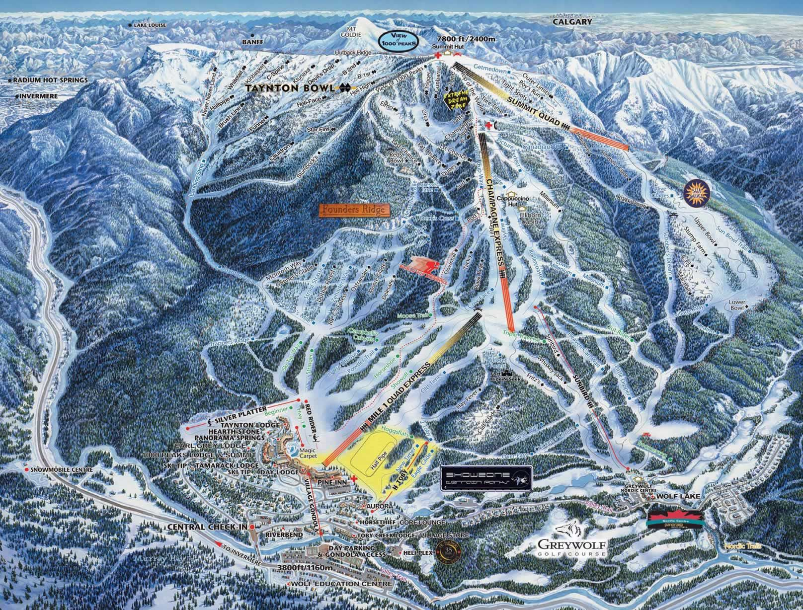 panorama canada ski resort lift map. loved skiing here.   places i