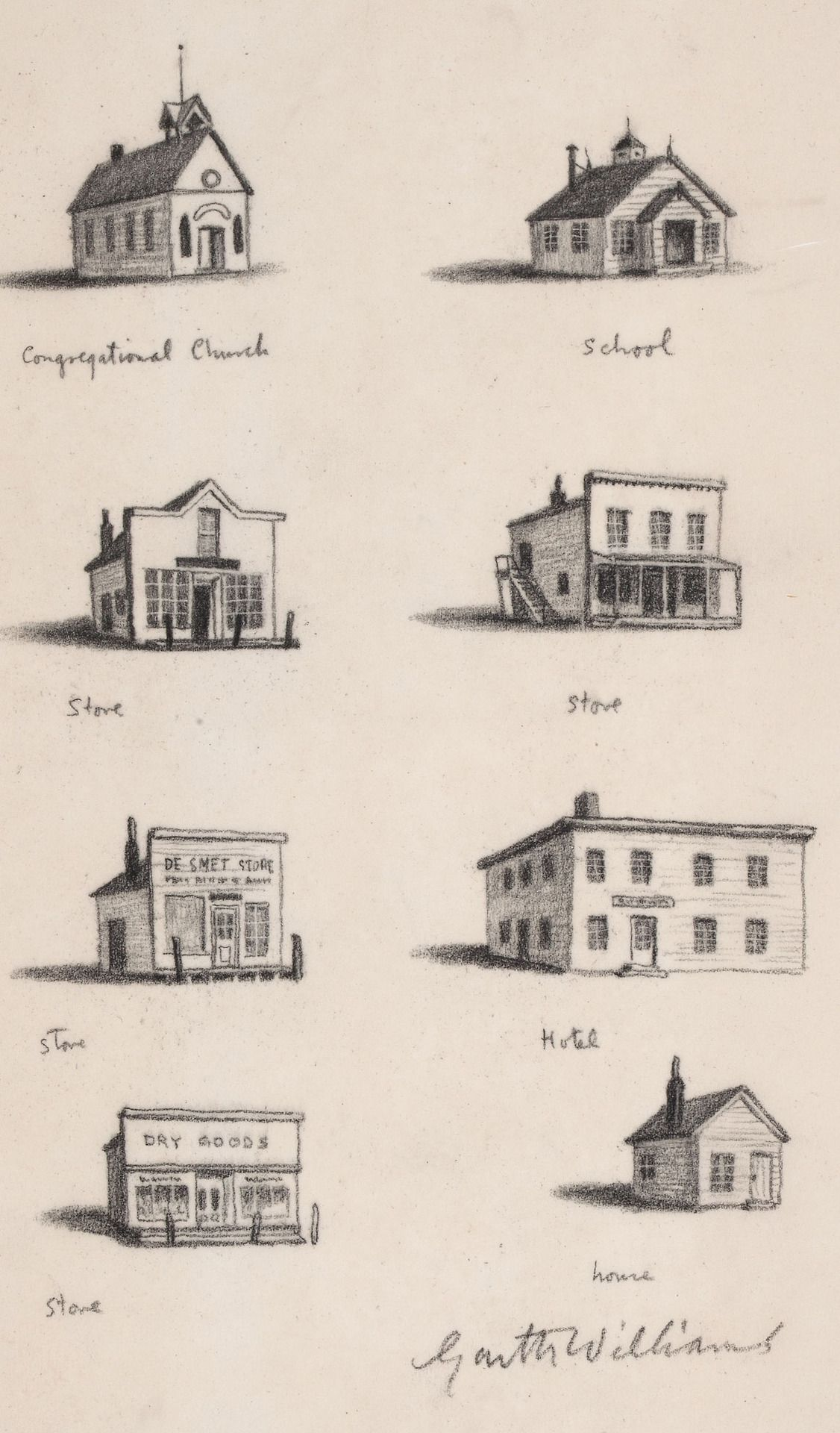 Garth Williams chapter header illustrations from Little Town on the ...