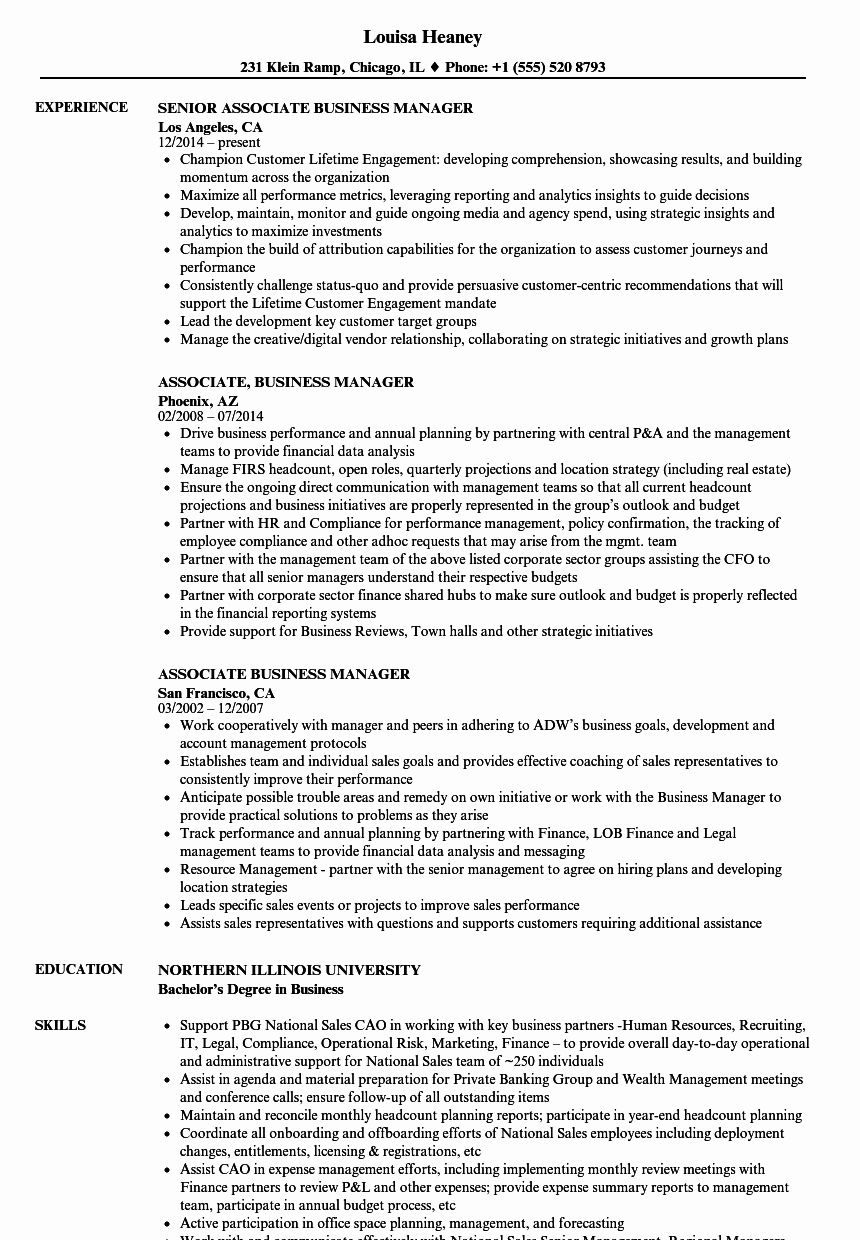 23 Business Management Resume Examples in 2020 Project