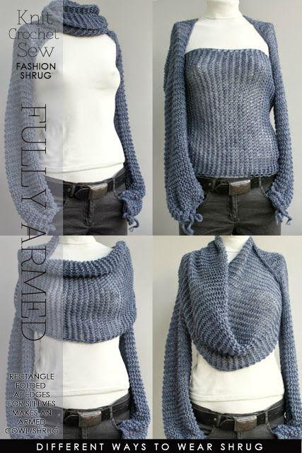 Cool Idea For Winter Sleeved Shrug Knit Pinterest Winter