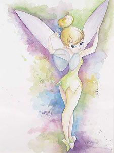 Peter Pan - Tink - Michelle St. Laurent - World-Wide-Art.com - #disney #michellestlaurent #disneyfineart #peterpan #tinkerbell