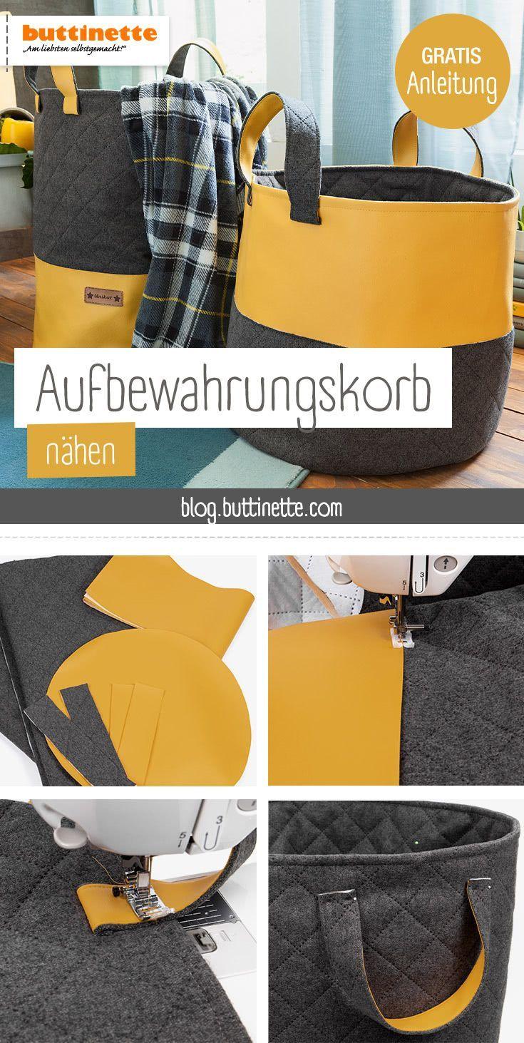 Photo of Kostenlose Anleitung für Aufbewahrungskorb | buttinette Blog
