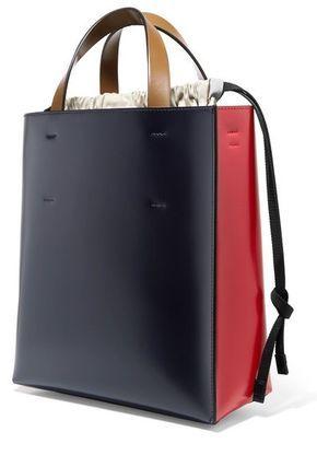 d077facbb6e6 MARNI Museo color block leather tote bag