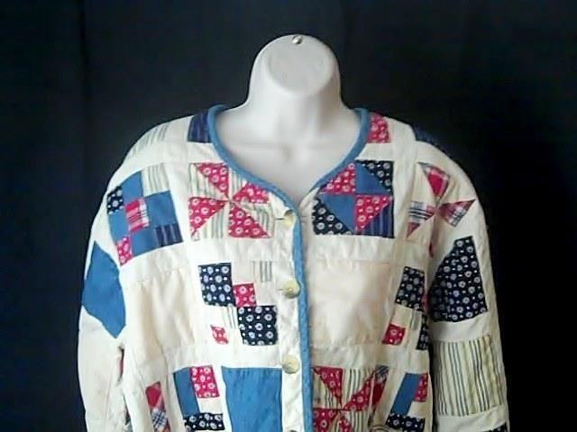 ORVIS Womens XL Patchwork Quilt Style Jacket 100% Cotton #ORVIS #BasicJacket