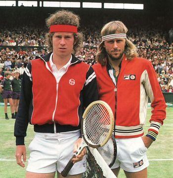 John McEnroe and Björn Borg. Cool outfit!!!  1a6624e4345