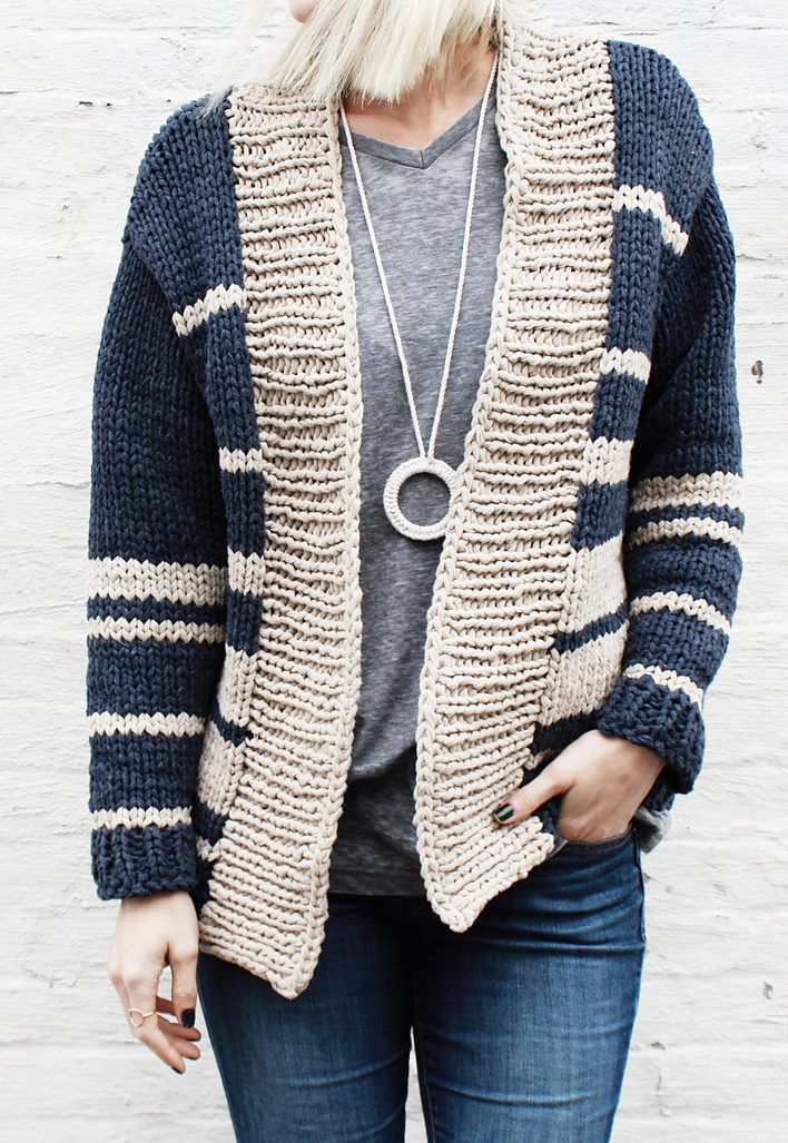 Free Knitting Pattern for Oxford Boyfriend Cardigan @Craftsy ...