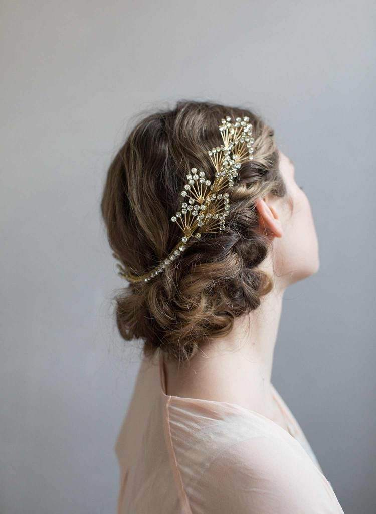 Art Deco Crystal Flare Headband Style 801 Art Deco Bride Art Deco Headpiece Vintage Wedding Hair