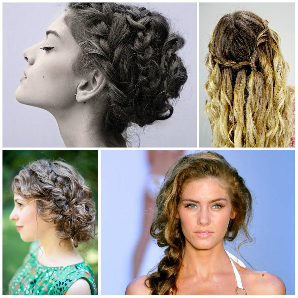 Cozy Braided Hairstyles for Curls 2016
