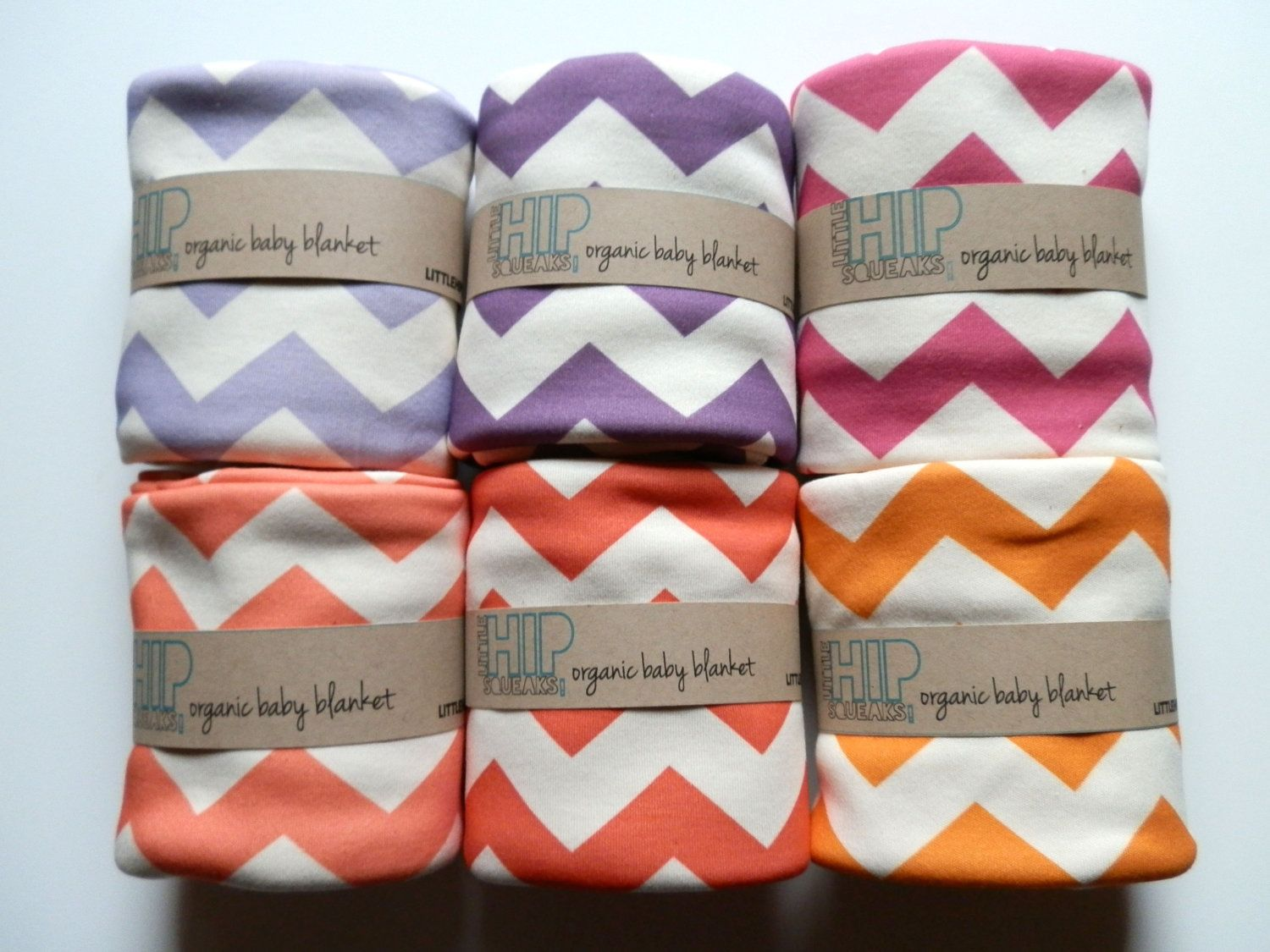 Chevron Baby Blanket Choose Your Color Soft by littlehipsqueaks