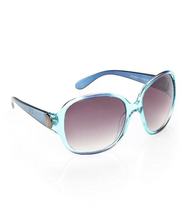 Look at this Jessica Simpson Collection Dark Turquoise Starlet Sunglasses on #zulily today!