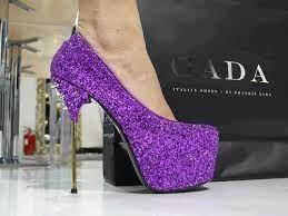 Zapatos De Tacon De Moda Con Brillos