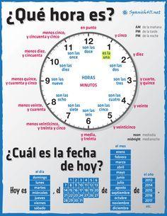 Zeit Um Spanisch Zu Lernen
