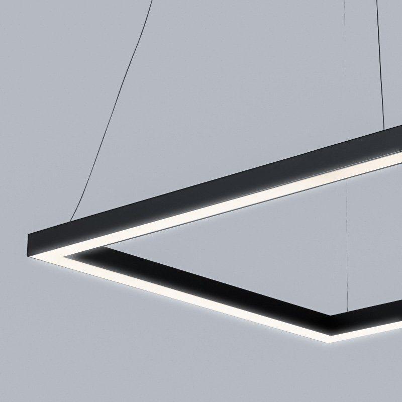 Bespoke Suspended Led Rectangle Light Smart Lighting Industries In 2020 Linear Lighting Wooden Pendant Lighting Smart Lighting