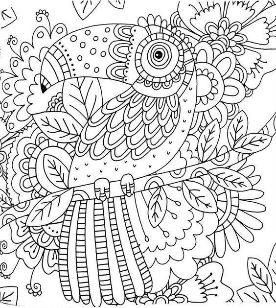 Раскраски антистресс Птицы - распечатать в хорошем ...