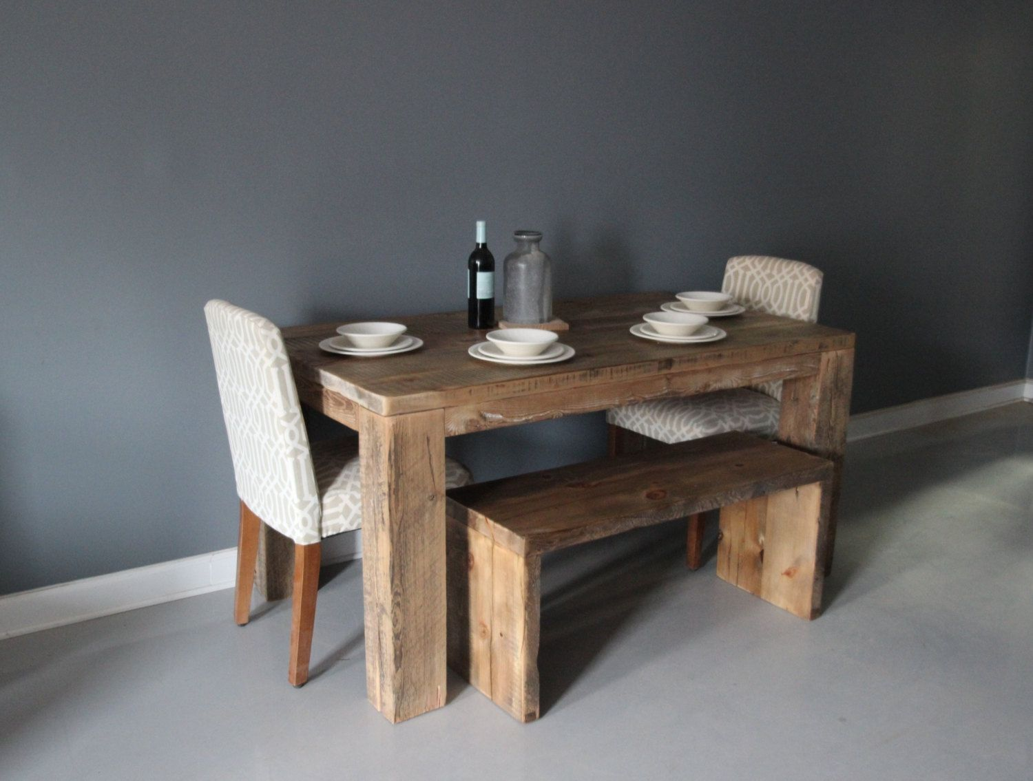 Square Dining Table Rustic Design Parsons Style By Dendroco 750 00