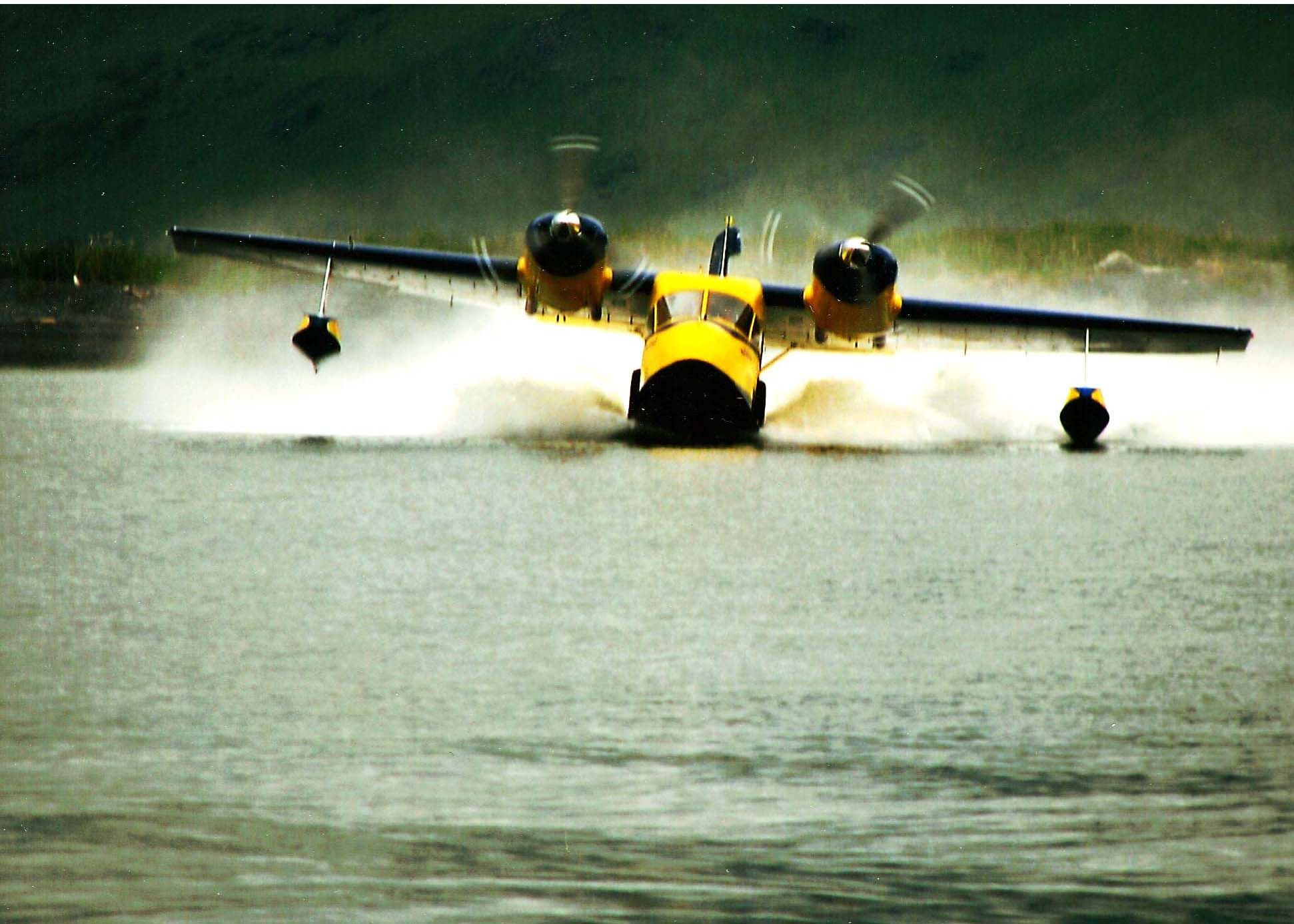 A 1947 Grumman Widgeon flown around Kodiak Island, Alaska