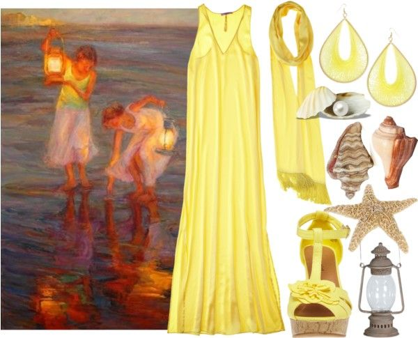 """""""Collecting Shells"""" by dkelley202 on Polyvore"""