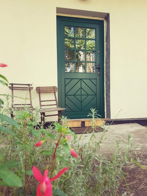 Retro wooden exterior door 4