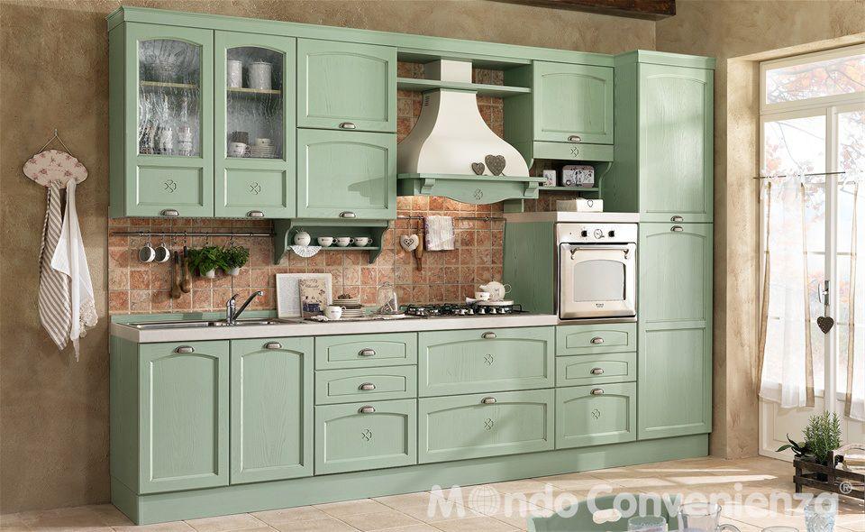 Cucina Decapè in finitura di colore verde | casa | Pinterest