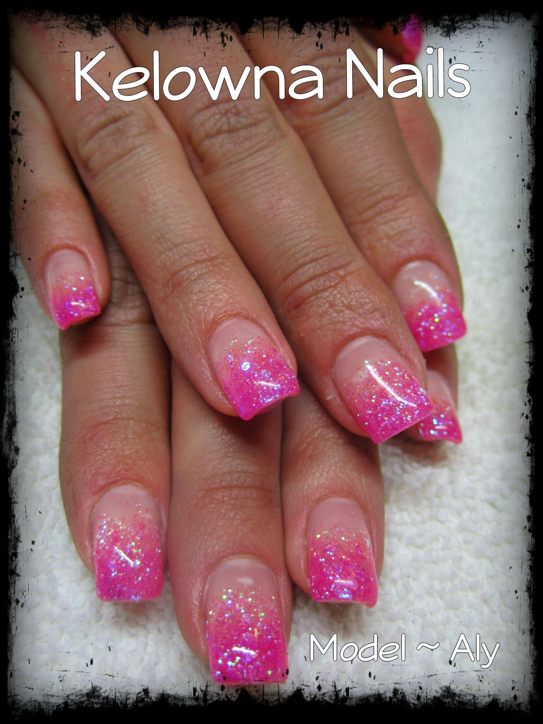 Hot Pink 3 Valentines Nail Art Designs Glitter Tip Nails Pink Nail Art