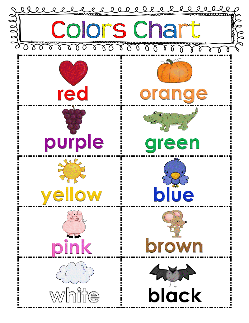 picture regarding Color Words Printable named Freebie: Shade Chart Enjoyable Clroom Plans Kindergarten