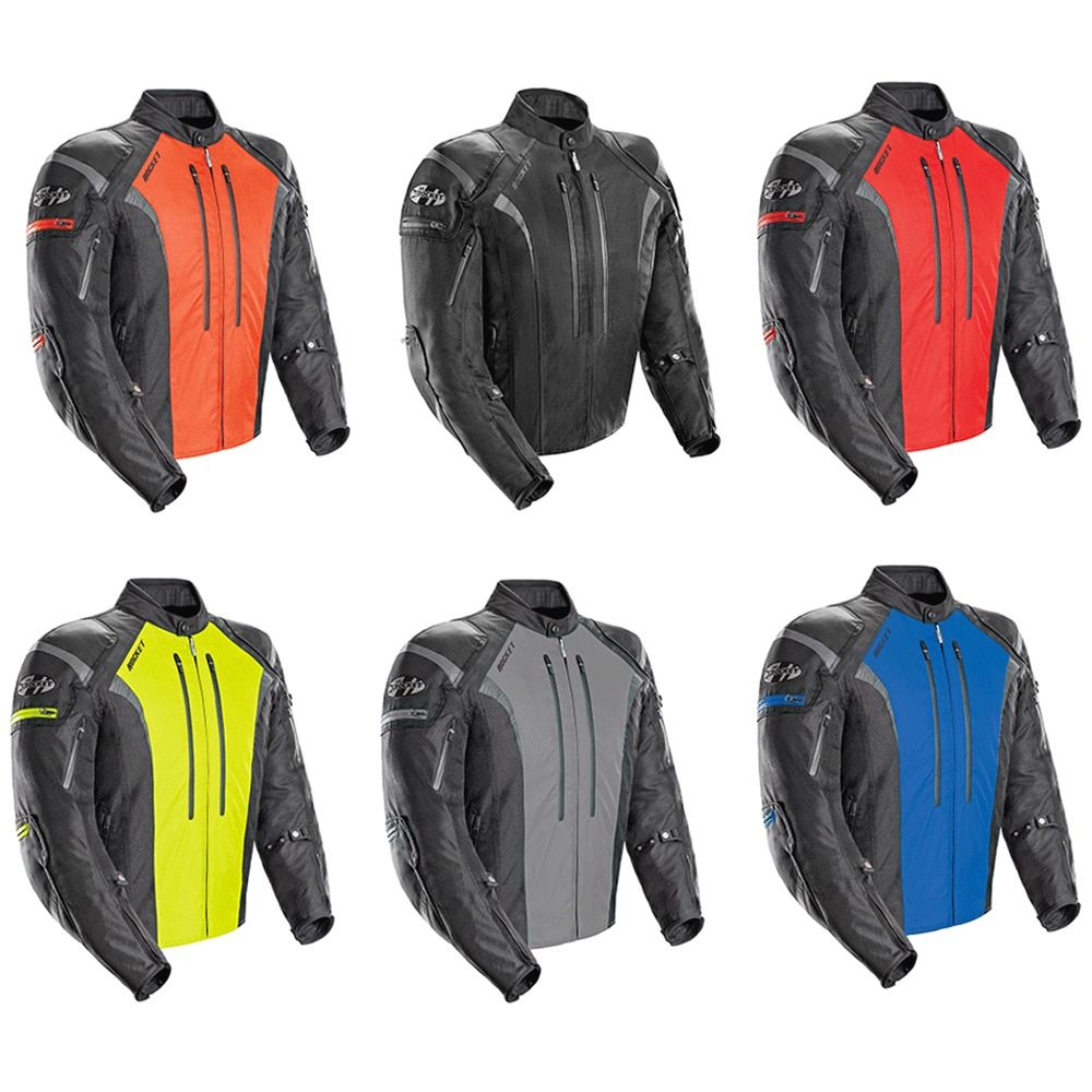 NEW Joe Rocket Atomic 5.0 Textile Motorcycle Jacket Black Mens All Sizes