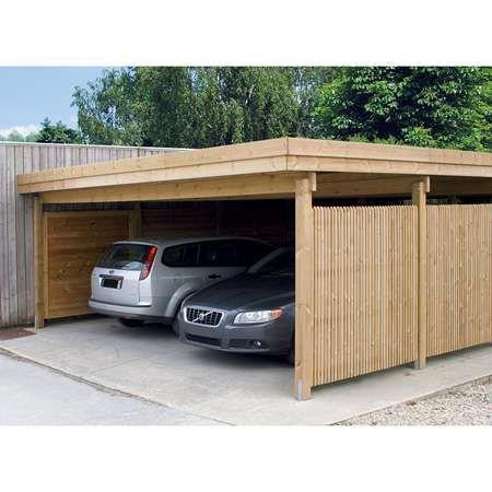 Carport Abri Garage Couverture Auto Double Carport Toit Plat Carport Bois Garage Bois Toit Plat