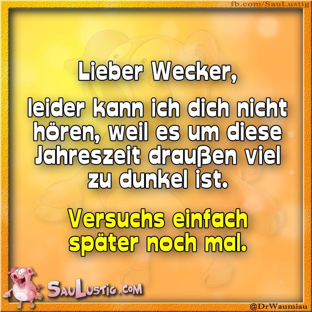 Lieber Wecker...