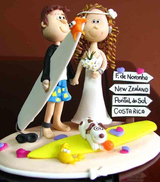 Para o casal que adora uma praia, esses são os bonequinhos perfeitos!