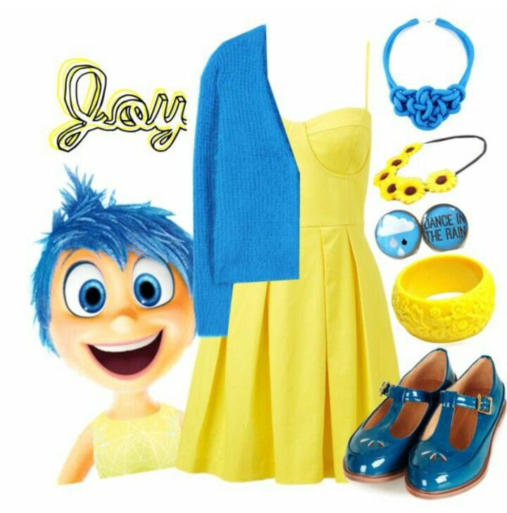 Joy From Pixar S Inside Out Joy Costume Disney Inspired Outfits Disney Bound Outfits