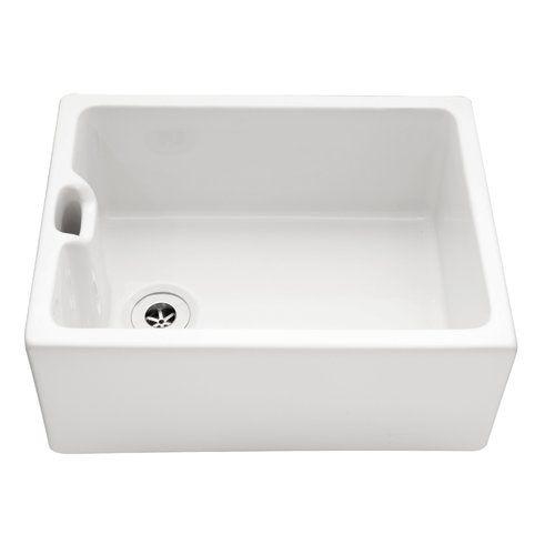 Metric Bret 59 5cm X 45 5cm Single Bowl Farmhouse Kitchen Sink Belfry Kitchen Farmhouse Sink Kitchen Kitchen Sink Ceramic Sink
