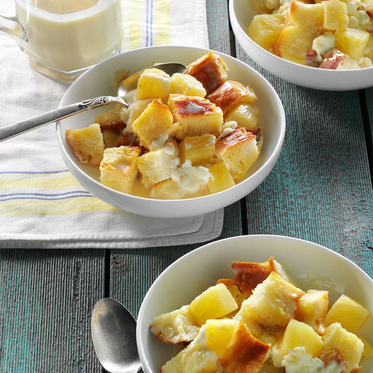 Pineapple Cream Cheese Bread Pudding Recipe Recipes Sweetened Condensed Milk Recipes Cream Cheese Bread