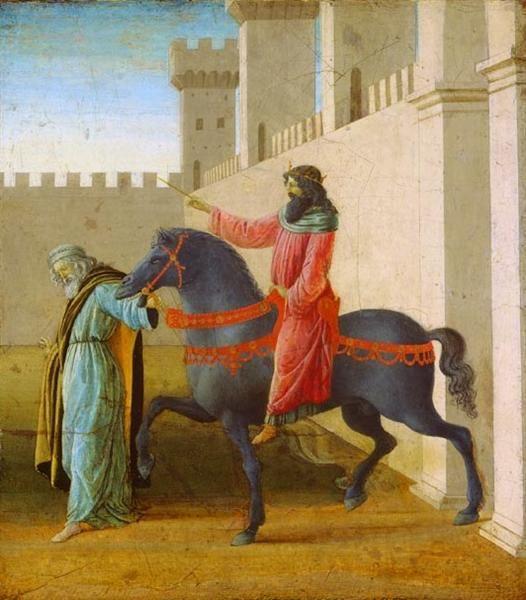 La historia de Esther, 1475-1480 - Sandro Botticelli