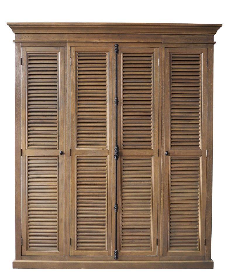 Wardrobe Armoire Cabinet Shutter Louver Front British Island Style Vertical Lock Dolaplar Panjurlar Elbise Odalari