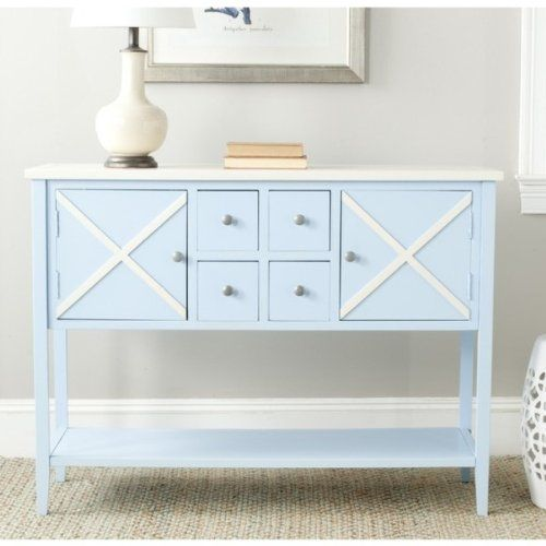 Safavieh American Homes Collection Adrienne Sideboard, Light Blue