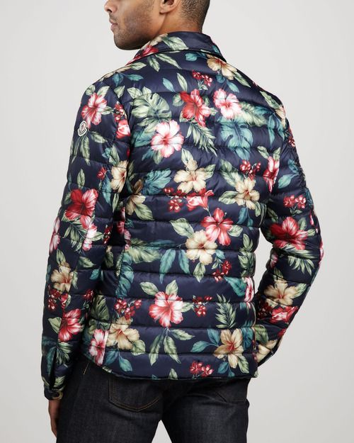 6c68f980624a Moncler Floral-Print Puffer Jacket | inspiration in 2019 | Puffer ...