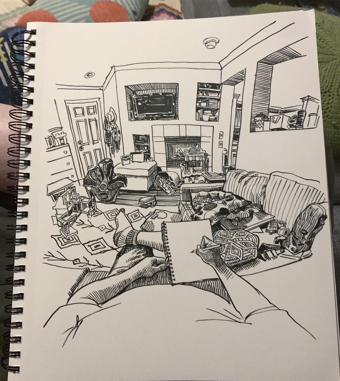 More recent POV sketches (With images) Sketches, Room