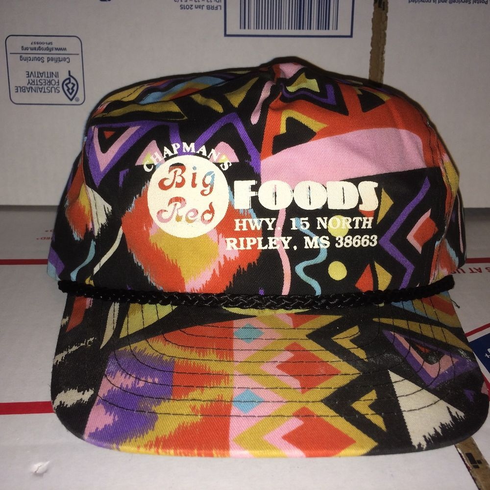 Chapman s Big Red Foods HWY. 15 north Ripley MS Mississippi Hat Cap vintage  Colo  fashion  clothing  shoes  accessories  mensaccessories  hats (ebay  link) 0029080f12ee