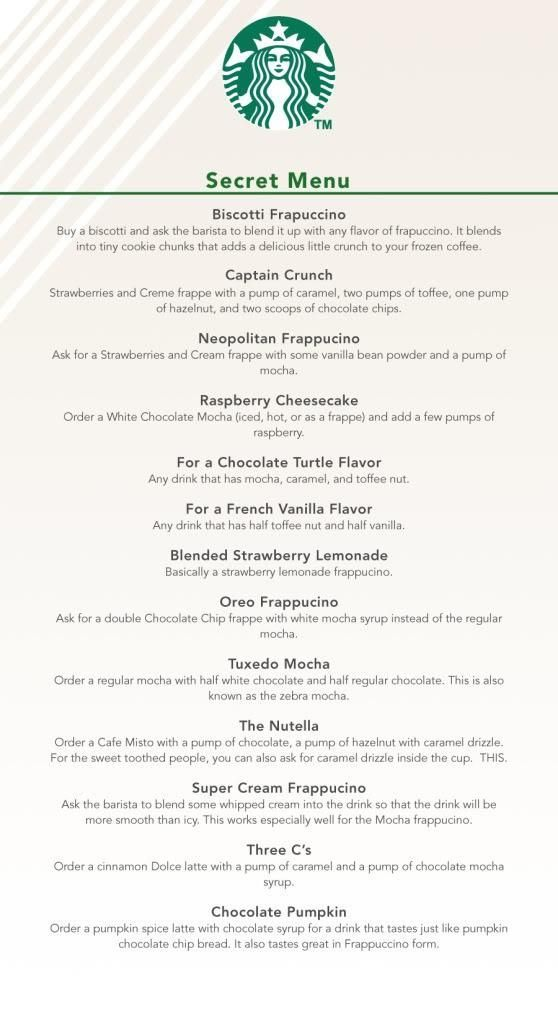 starbucks secret menu #starbuckssecretmenudrinks