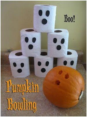 Pumpkin Bowling Halloween Game | Preschool | Pinterest | Halloween ...