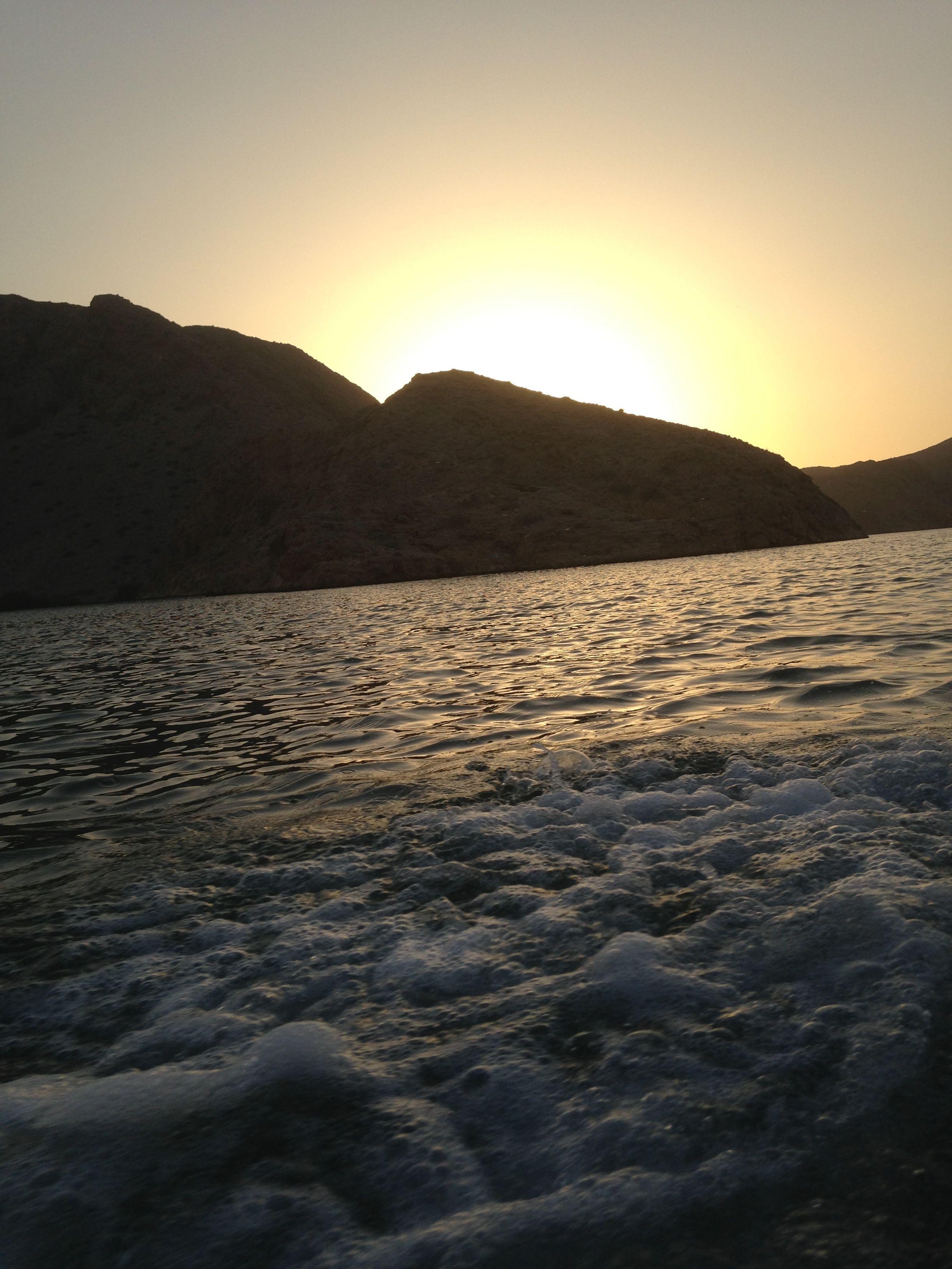 غروب الشمس الخيران محافظة مسقط Sunset Water Celestial