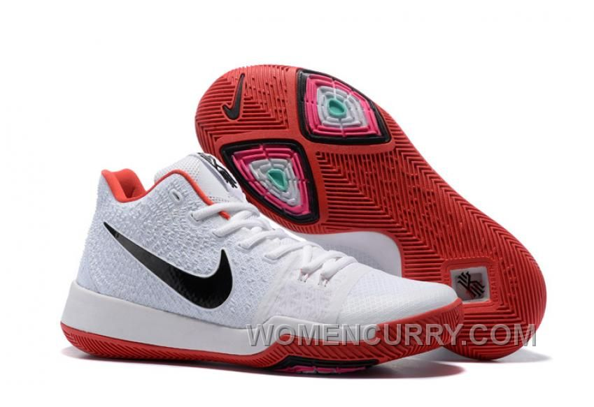 46e1d54cc738 Authentic supply Nike Kyrie 3 custom White Red Sale outlet the world