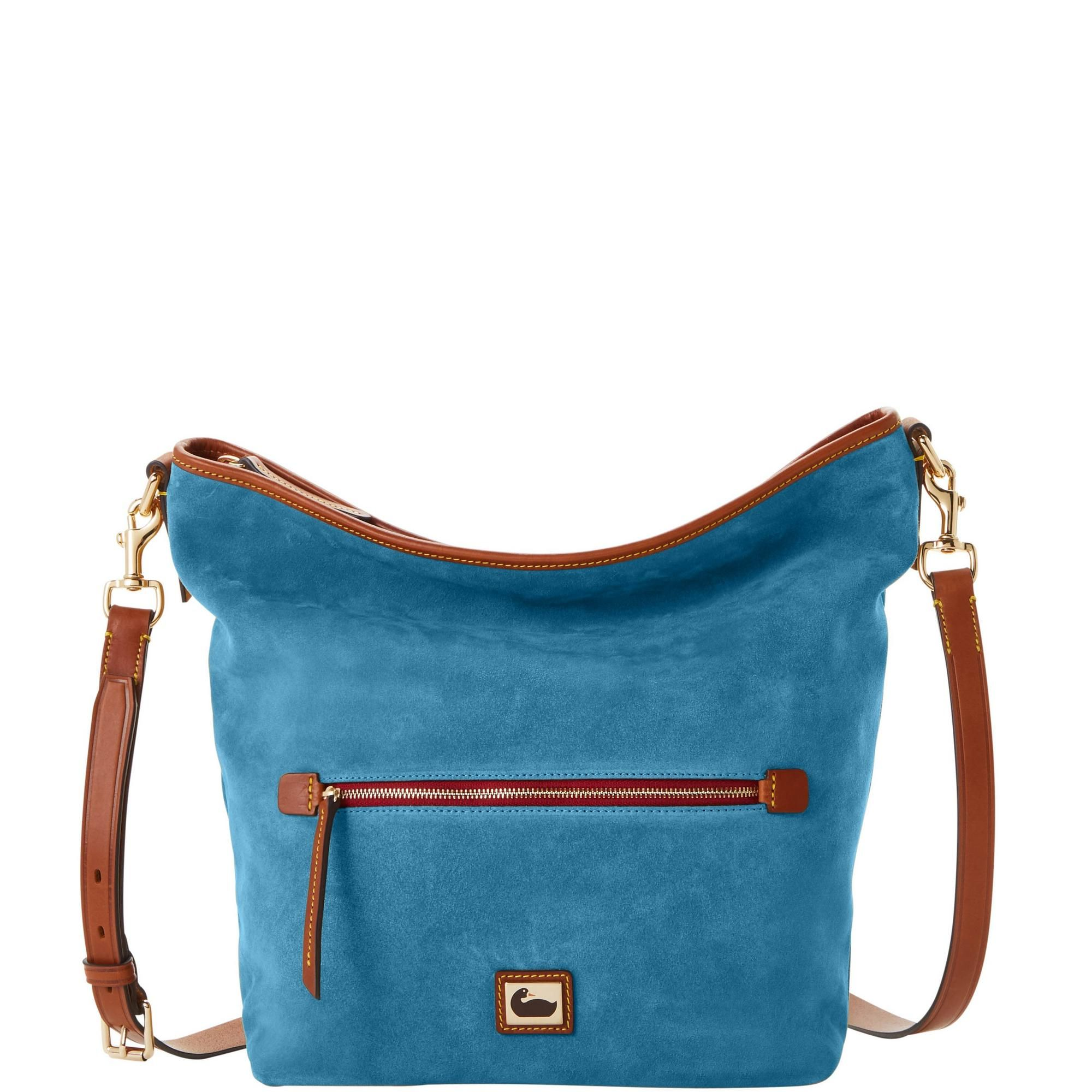 Dooney Bourke Camden Suede Hobo Crossbody Crossbody Shoulder Bag Suede Bags Dooney
