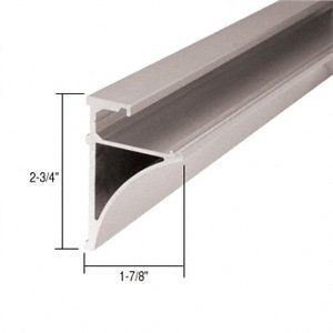 C R Laurence Se3896bn Crl Brushed Nickel 96 Aluminum Shelving Extrusion For 3 8 Glass By C Glass Shelves In Bathroom Glass Display Shelves Aluminum Shelves