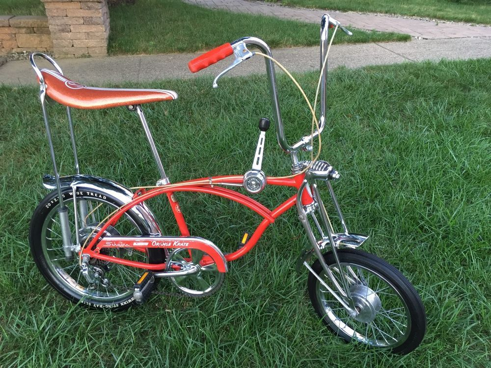 ddbe30a85d3 Schwinn 1973 Sunset Orange Krate Stingray 5 Speed Disc Brake Original Paint  Bike | eBay