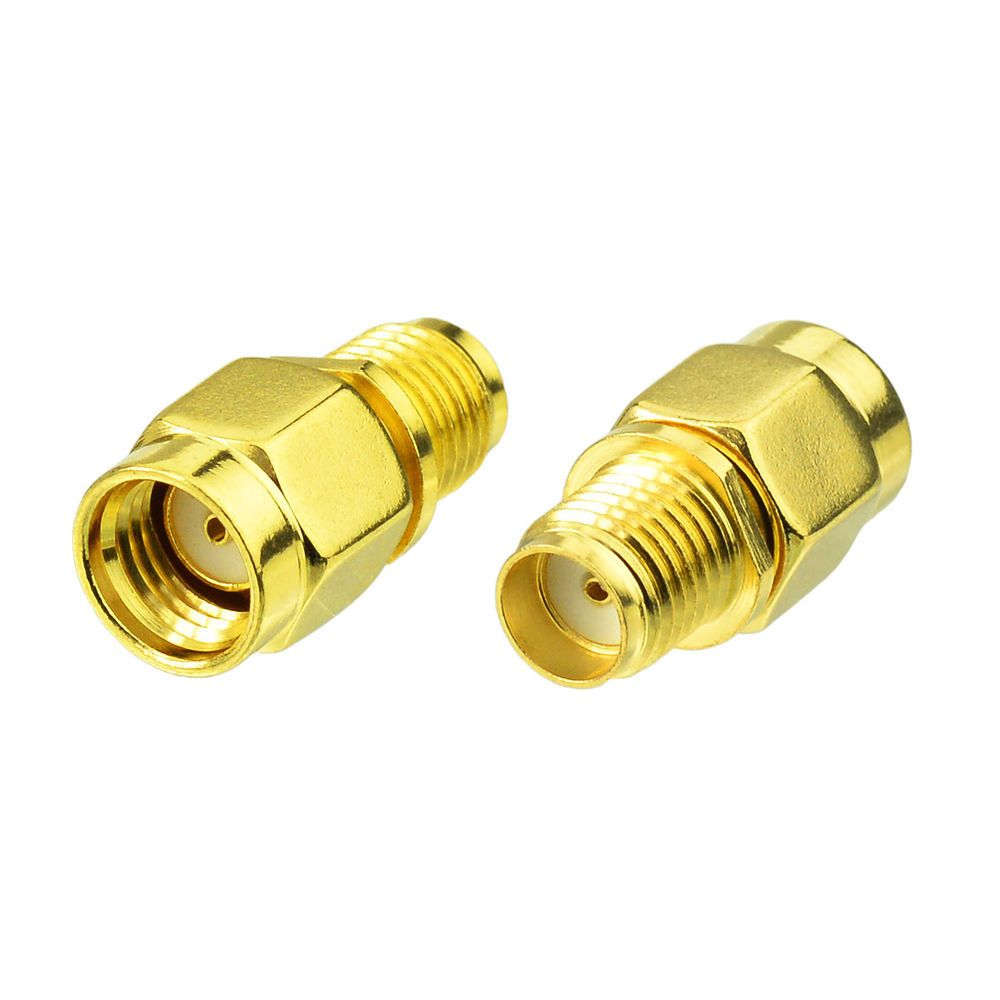 RP-SMA Female to SMA Female Adapter 2-Pack RF Coax Coaxial Connector Plug to Jack RFAdapter
