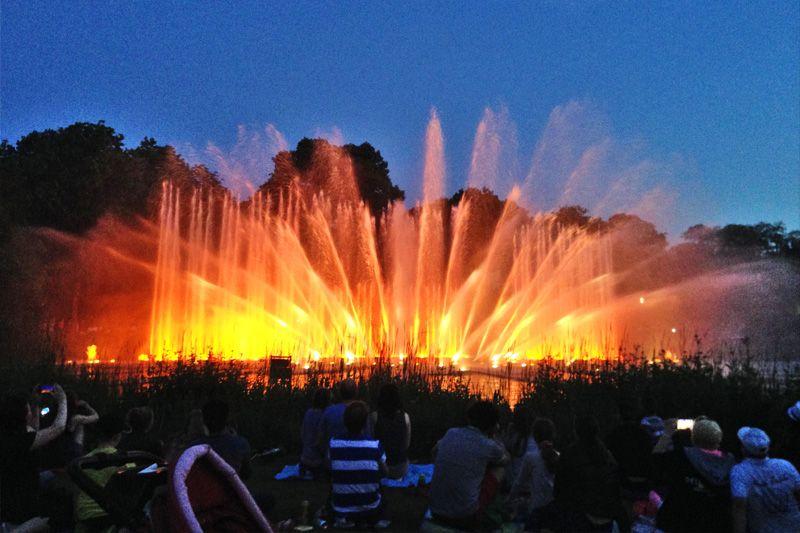 Wasserlichtspiele blomen anfahrt un planten Planten un