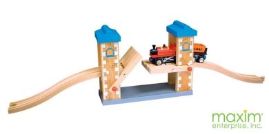 Thomas & Friends | Brio | Melissa and Doug Compatible | Wooden Train Lifting Bridge | Maxim Enterprise